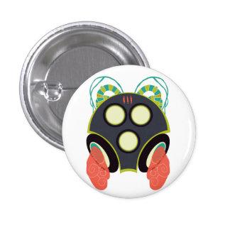 Hello Gas Mask Pinback Button