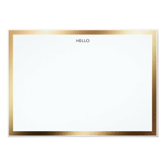 Hello Gold Border Notecard