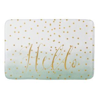 Hello Gold Mint Confetti Ombre Bath Mat