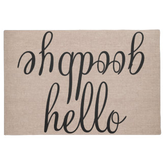 Hello goodbye funny quote saying humor hipster lar doormat