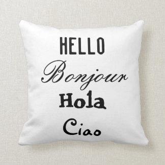 Hello Goodbye Language Pillow