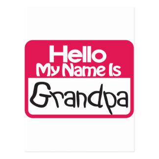 Hello Grandpa Postcard