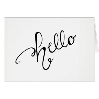 Hello Greeting Card - Blank Inside