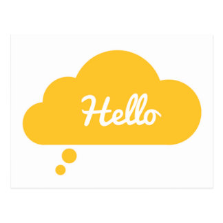 Hello Greeting Card Postcard