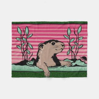 Hello, Groundhog's Shadow - Fleece Blanket