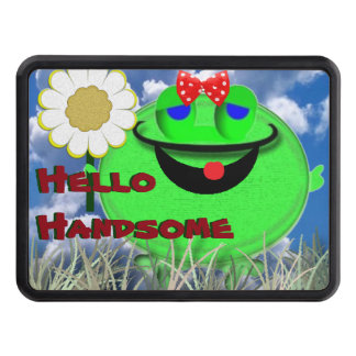Hello handsome frog with Daisy Trailer Hitch Cover