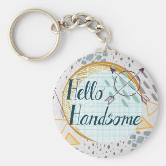 Hello Handsome Male Key ring Cute