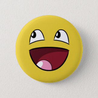 hello happy face 2 inch round button