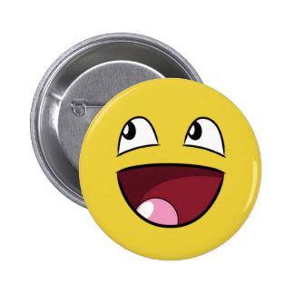 hello happy face 2 inch round button