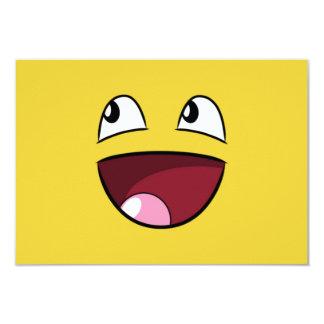 """hello happy face 3.5"""" x 5"""" invitation card"""