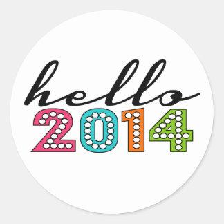Hello Happy New Year 2014 New Year's Eve Sticker