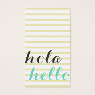 Hello hello, interpreter translator professor business card