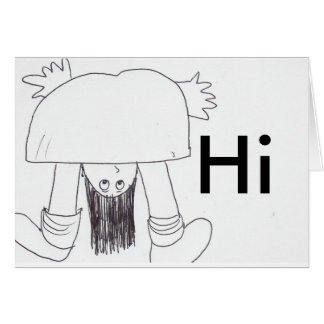 Hello, Hi Greeting Card