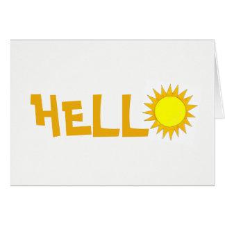 HELLO Hi Yellow Summer Sunshine Sunny Day Sun Card