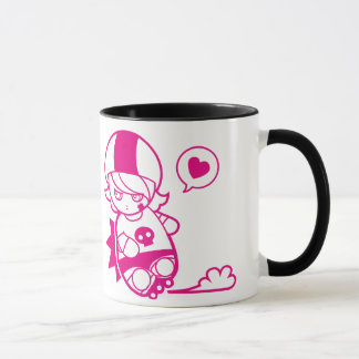 Hello Hitty Hugs n Shoves Roller Derby Cute Mug