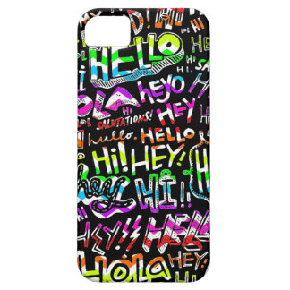 Hello Hola Bonjour iPhone 5 Covers