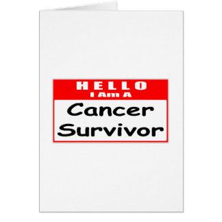 Hello, I Am A Cancer Survivor ... Nametag Greeting Card