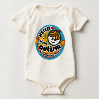 HELLO I HAVE AUTISM - AWARENESS BABY BODYSUIT