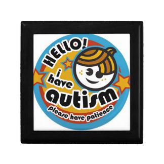 HELLO I HAVE AUTISM - AWARENESS GIFT BOX