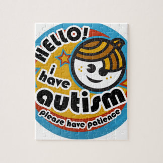 HELLO I HAVE AUTISM - AWARENESS JIGSAW PUZZLE