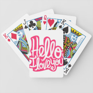Hello I love you Bicycle Playing Cards