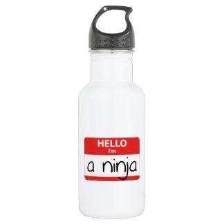 Hello I'm A Ninja 532 Ml Water Bottle