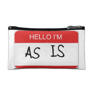 Hello I'm As Is Bag Cosmetics Bags