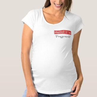 Hello I'm Pregnant Maternity T-Shirt
