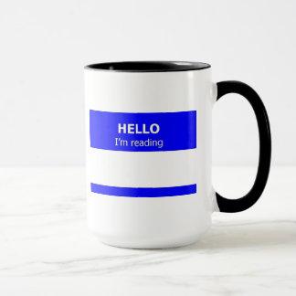Hello I'm Reading Ringer Mug