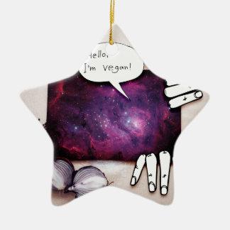 Hello, I'm Vegan Ceramic Ornament