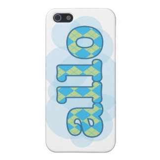 Hello in french allo in argyle pattern cases for iPhone 5