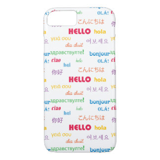 Hello in Many Languages iPhone 7 Case