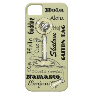 Hello in Many Languages Vintage Look iPhone5 Case iPhone 5 Cases