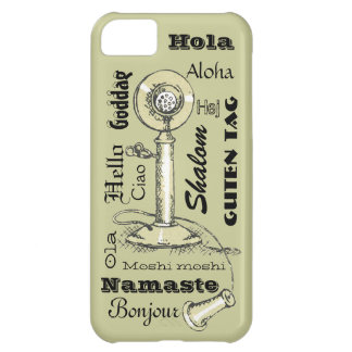 Hello in Many Languages Vintage Look iPhone5 Case iPhone 5C Covers