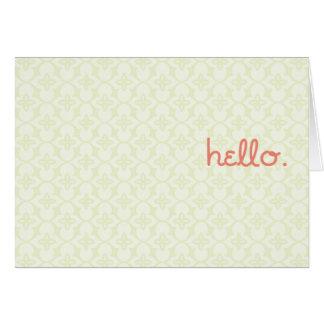 hello. it's me. card