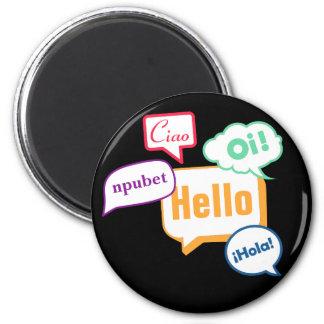 Hello | Languages 2 Inch Round Magnet