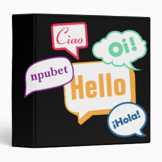 Hello | Languages 3 Ring Binders
