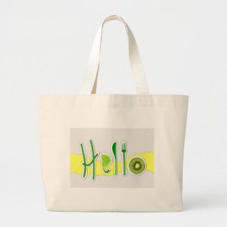 hello large tote bag