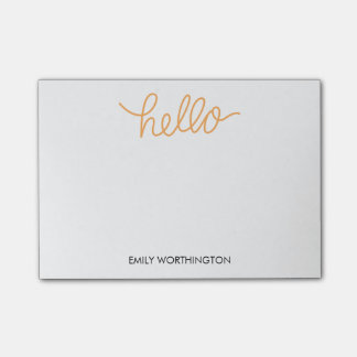 Hello Lettering Custom Post-it® Notes (Yellow)