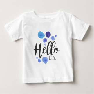 Hello Life Beauty Promo Sign Watercolor Stylized H Baby T-Shirt