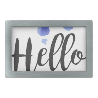 Hello Life Beauty Promo Sign Watercolor Stylized H Belt Buckles
