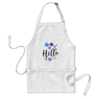 Hello Life Beauty Promo Sign Watercolor Stylized H Standard Apron