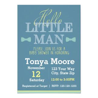 Hello Little Man Baby Shower Invitation