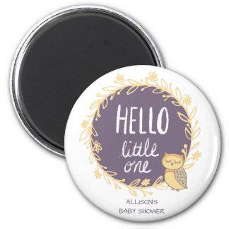 Hello Little One Owl Baby Shower Favor Magnet