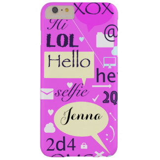 Hello, LOL, HI, personalised and customised case Barely There iPhone 6 Plus Case