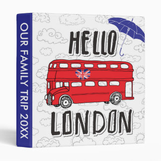 Hello London | Hand Lettered Sign With Umbrella Binder