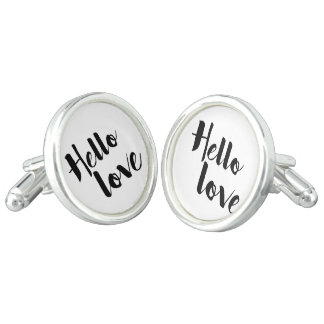 Hello Love Cuff Links