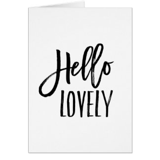 Hello Lovely | Chic Typography Blank Card