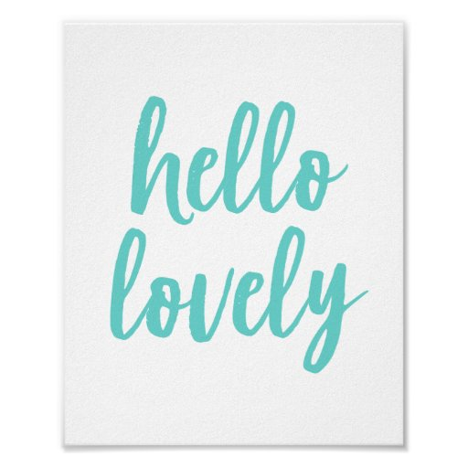 Hello Lovely | Typography Art Print