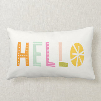 Hello Lumbar Pillow - Orange